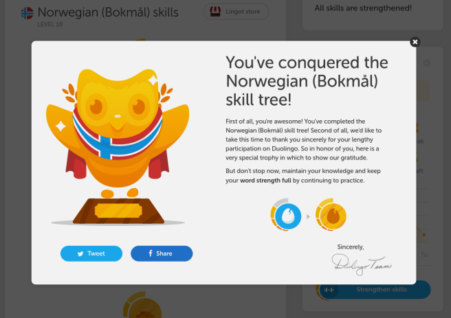 Duolingo Norwegian Tree 3.0 Finished | Fluent for Free